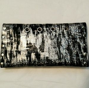 Handmade Embossed snakeskin leather wallet